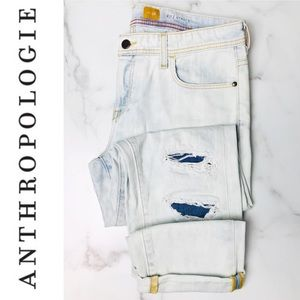Anthro | Pilcro  Hyphen Faded Distressed Jeans